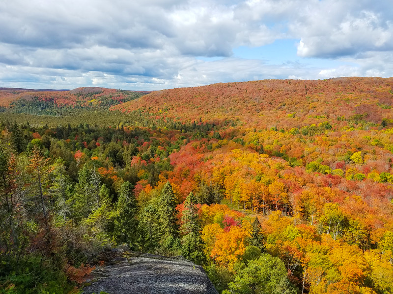 Minnesota has been so dry this summer, and there were predictions that fall colors would be disappointing.  But, at least from the observation deck at Moose Mountain, the colors were spectacular.