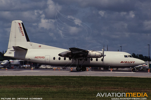 1991-09 N276RD Fairchilf F27 Airlinft International