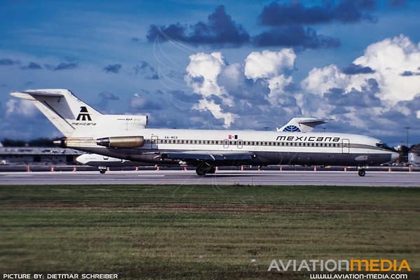 1991-09 XA-MER Boeing 727-200 Mexicana