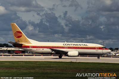 1991-09 N14334 Boeing 737-300 Continental Airlines