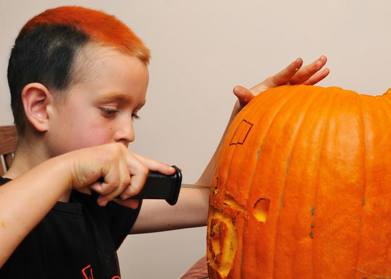 Conor had an interesting design for his pumpkin.