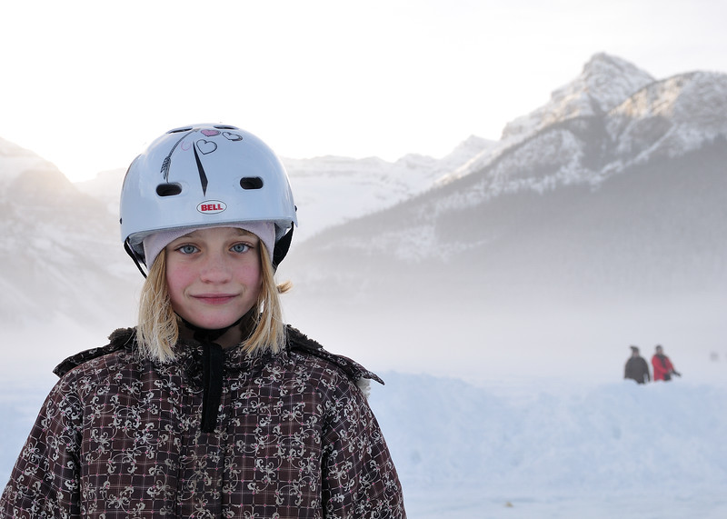 Clare on Lake Louise