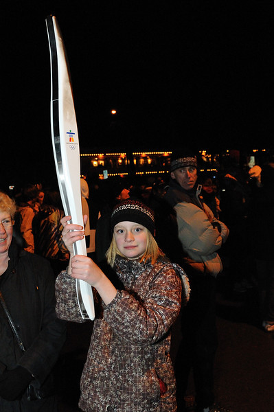 Clare with one of the torches