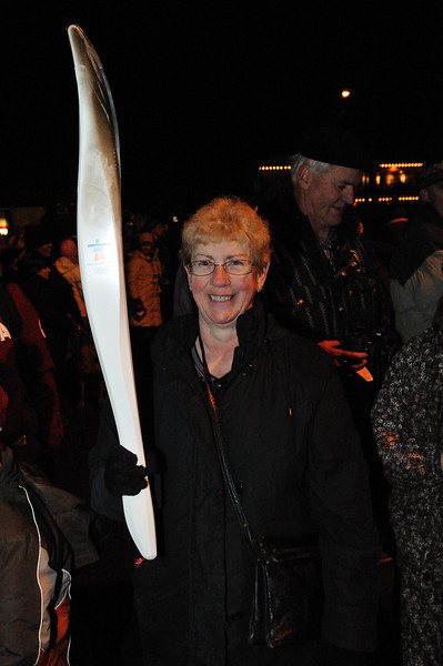 Sharyn with one of the torches