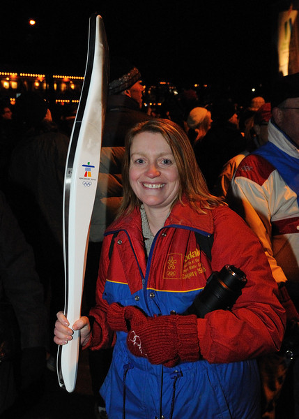 Jennifer with one of the torches