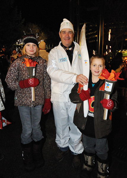 Posing with torch bearer number 150