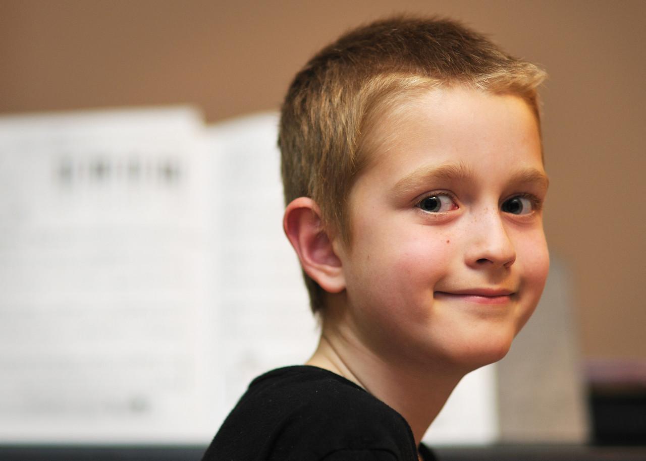 Conor at the piano.