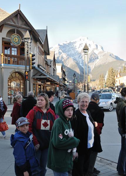 Stopped in Banff for dinner.