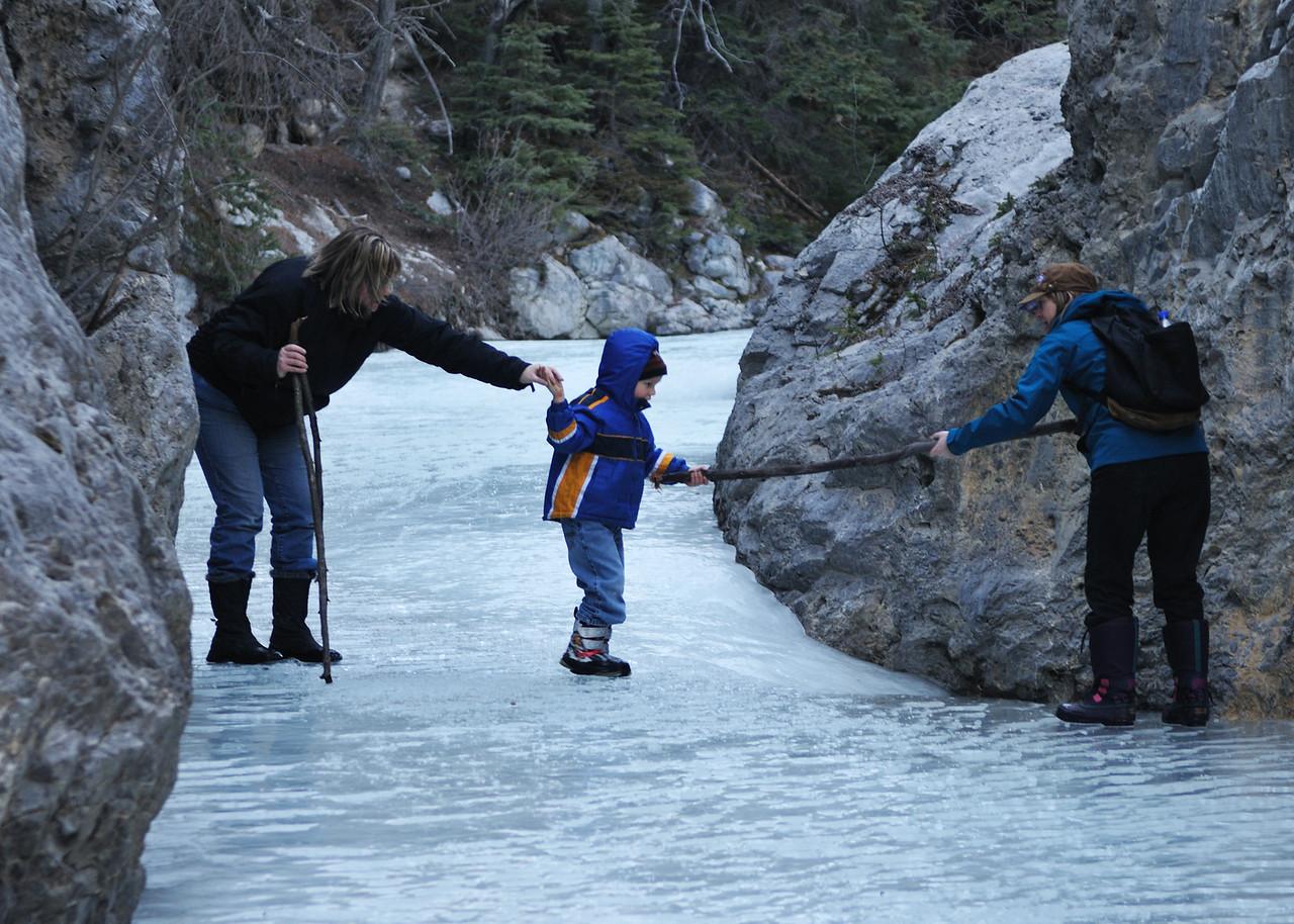 Was pretty slippery.