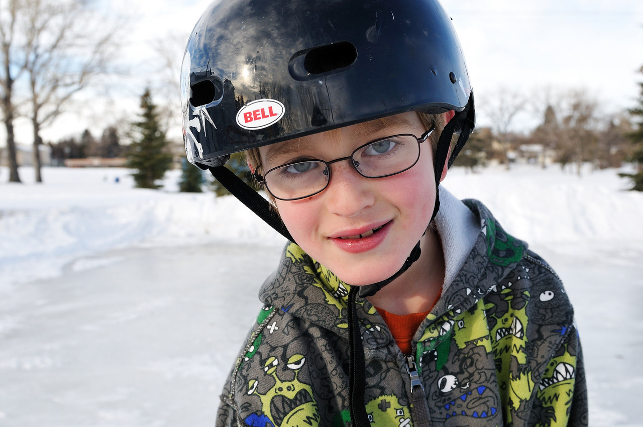 Conor at the rink