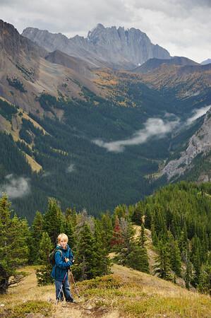 Hiking on King Creek ridge