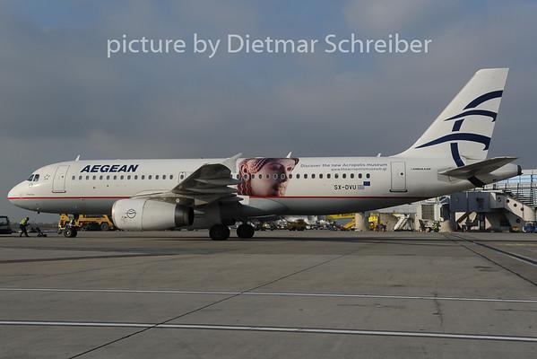 2012-12-20 SX-DVU Airbus A320 Aegean Airlines