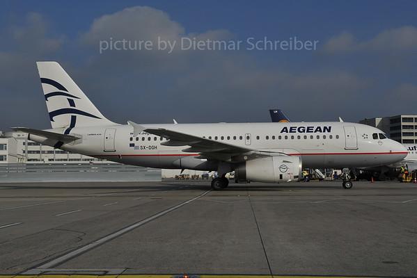 2012-01-27 SX-DGH Airbus A319 Aegean Airlines