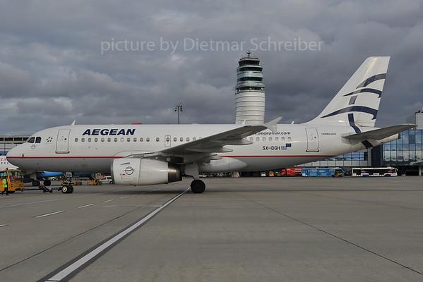 2012-01-0 SX-DGH Airbus A319 Aegean Airlines