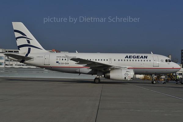 2012-01-2 SX-DGH Airbus A319 Aegean Airline
