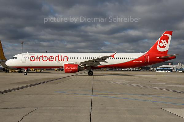 2016-12-26 OE-LCC Airbus A321 Flyniki / Air Berlin