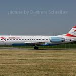 2017-06-21 OE-LVE Fokker 100 AUstrian Airlines