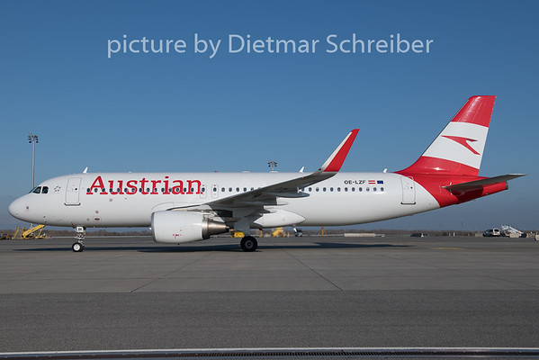 2019-12-20 OE-LZF Airbus A320 Austrian AIrlines