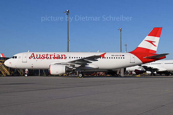 2020-02-20 OE-LZA Airbus A320 Austrian Airlines