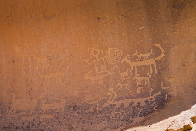 Petroglyphs above Una Vida, Chaco Culture National Historical Park