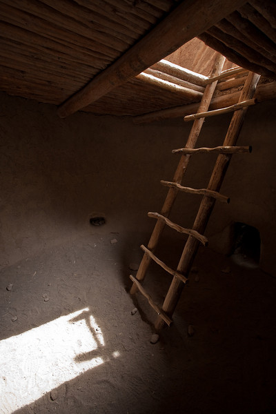 Inside of reconstructed kiva, Bandelier National Monument