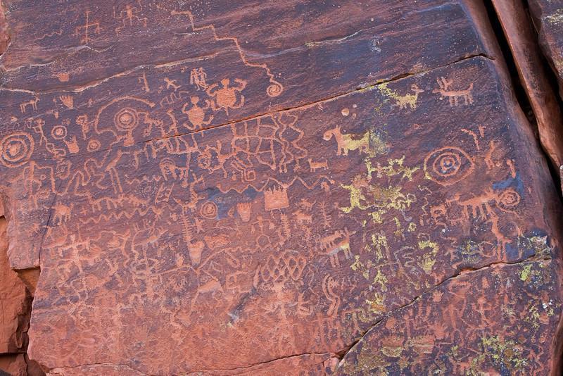 Petroglyph panel, V-V site