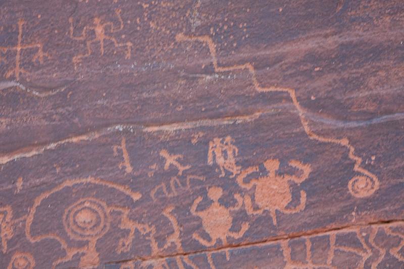 Petroglyphs at the V-V site