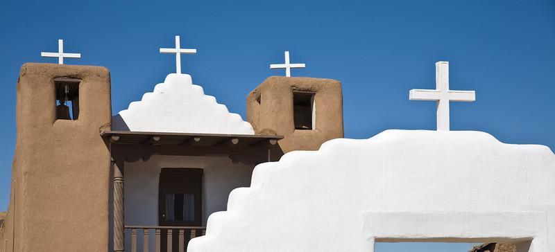 San Geronimo de Taos, Taos Pueblo. Construction of the original church began in 1706. This structure was built around 1850.