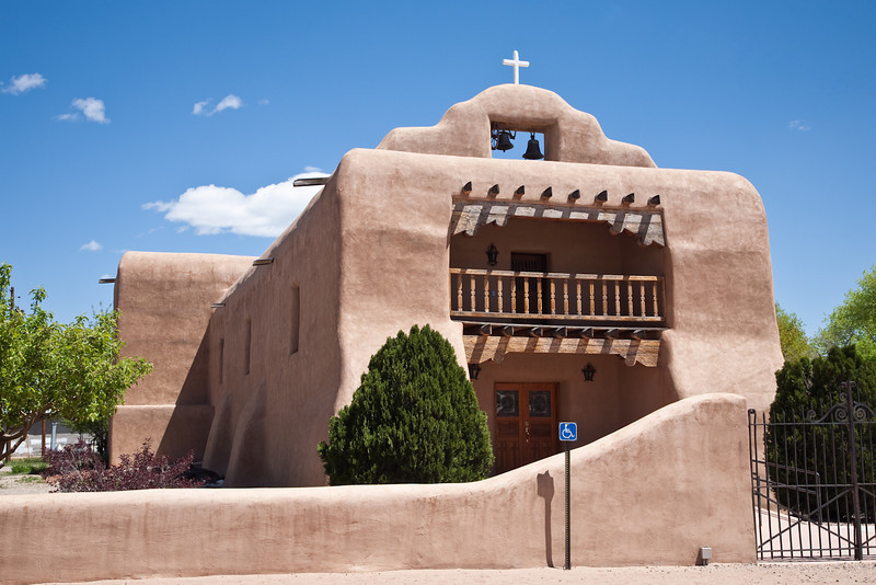 Santo Tomas de Abiquiu. Original church was built in 1773. This building was constructed in 1937.