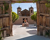 Santuario de Chimayo, built as a private chapel in 1814. This site is visited by thousands of pilgrims, who believe that it was built on sacred earth with miraculous healing powers.