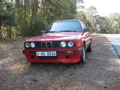 BMW 325i 4 Door Red 1989