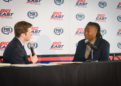 Brittany Webb (Seton Hall) during an interview.