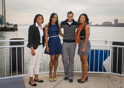 Keylantra Langley, Eugenia McPherson, Amber Thompson and Briana Brown; St. John's University.
