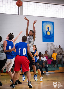 Tiffany Jackson  NYWAL Invitation Tournament: Third Place Game: Havoc (Grey) 50 v. NYC Gay Basketball League (Blue) 49, Alfred E. Smith Recreation Center, New York, NY. August 25, 2012.