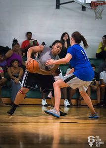 Taisha Hylor, Alice Russell NYWAL Invitation Tournament: Third Place Game: Havoc (Grey) 50 v. NYC Gay Basketball League (Blue) 49, Alfred E. Smith Recreation Center, New York, NY. August 25, 2012.