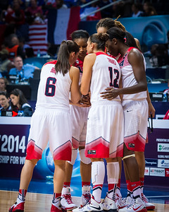 (2014 FIBA World Championship for Women: Quarterfinals:  USA 94 vs France 72, Fenerbahçe Arena, Istanbul, Turkey, October 3, 2014)