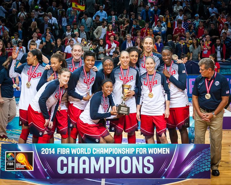 (2014 FIBA World Championship for Women: Championship: USA 77 vs Spain 64, Fenerbahçe Arena, Istanbul, Turkey, October 5, 2014)