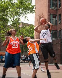 Brooklyn Express (White) 50 v Lehman (Orange) 36 West 4th St Women's  Pro-Classic NYC: Brooklyn Express (White) 50 v Lehman (Orange) 36, William F. Passannante Ballfield, New York, NY. June 5, 2010)