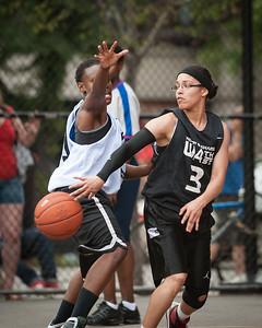 Big East Ballers (White) 72 v Fast Break (Black) 31 West 4th St Women's  Pro-Classic NYC: Big East Ballers (White) 72 v Fast Break (Black) 31, William F. Passannante Ballfield, New York, NY. June 5, 2010)