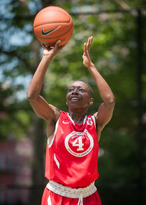 """Quiet Storm (Blue) 62 v. Havoc  (Red) 56 West 4th St Women's  Pro-Classic NYC: Quiet Storm (Blue) 62 v. Havoc  (Red) 56,  """"The Cage"""", New York, NY. June 19, 2010)"""