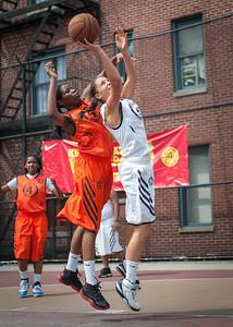 Young Guns (Orange) 56 v. Fastbreak (White) 33 (West 4th St Women's  Pro-Classic NYC: Young Guns (Orange) 56 v. Fastbreak (White) 33, William F. Passannante Playground, New York, NY. June 26, 2010)