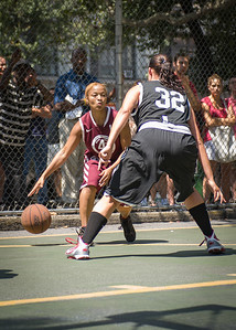 Dreamteam (Black) v Westchester (Burgundy) (West 4th Street Women's Pro Classic NYC: Dreamteam (Black) v Westchester (Burgundy), The Cage, New York, NY, August 7, 2010)