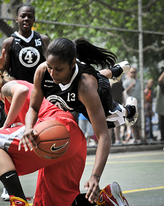 """(West 4th St. Women's  Pro-Classic NYC: Deuce Trey (Red) 75 v Havoc (Black) 44, The """"Cage"""", New York, NY. June 4, 2011)"""