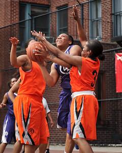(West 4th St. Women's Pro-Classic NYC: Quiet Storm (Orange) 71 v Fastbreak (Purple) 44, William F. Passannante Ballfield, New York, NY. June 4, 2011)