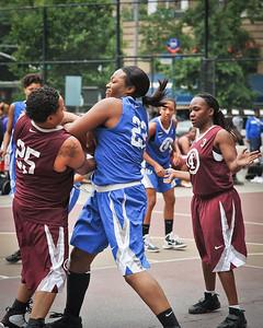 (West 4th St. Women's Pro-Classic NYC: Hustle Hard (Burgundy) 38 v Parker's Ladies (Blue), William F. Passannante Ballfield, New York, NY. June 4, 2011)