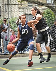 "(West 4th St. Women's Pro-Classic NYC: Next Level (Navy) 64 v Havoc (Black) 52, The ""Cage"", New York, NY. June 5, 2011)"