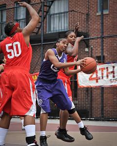 (West 4th St. Women's Pro-Classic NYC: Deuce Trey (Red)  68 v  Fastbreak (Purple) 50, William F. Passannante Ballfield, New York, NY. June 5, 2011)