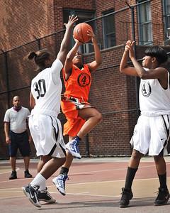 (West 4th St. Women's Pro-Classic NYC: Quiet Storm (Orange) 52 v The Saints (White) 20, William F. Passannante Ballfield, New York, NY. June 12, 2011)