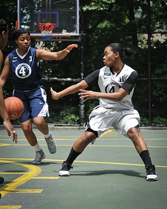 """Lady Mustangs (Silver) 76 v Next Level (Blue) 71 (West 4th St. Women's Pro-Classic NYC: Lady Mustangs (Silver) 76 v Next Level (Blue) 71, The """"Cage"""", New York, NY. June 19, 2011)"""