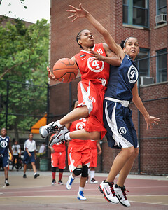 (West 4th St. Women's Pro-Classic NYC: Deuce Trey (Red)  68 v  Next Level (Blue) 32, William F. Passannante Ballfield, New York, NY. June 25, 2011)